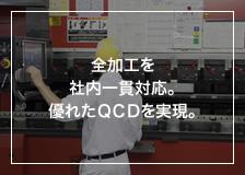 全加工を社内一貫対応。優れたQCDを実現。